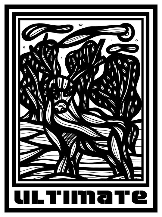 Palimpsest Ram Goat Antelope Deer Bl - 631 Art
