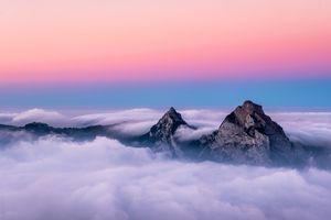 Colorful Switzerland Landscape.