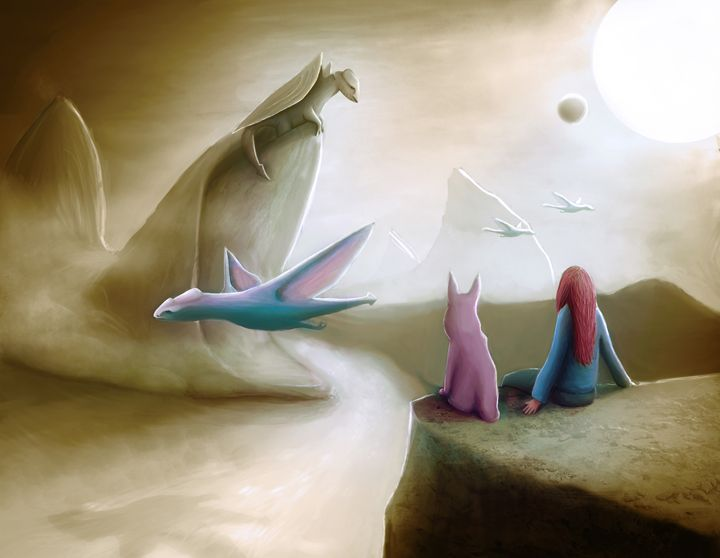 Watching Dragons - Rui Barros art illustration
