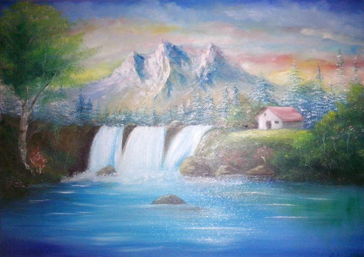 Mountains at the Lake - Darko