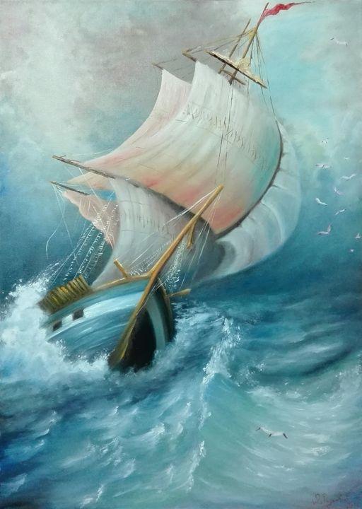Boat in the storm - Darko