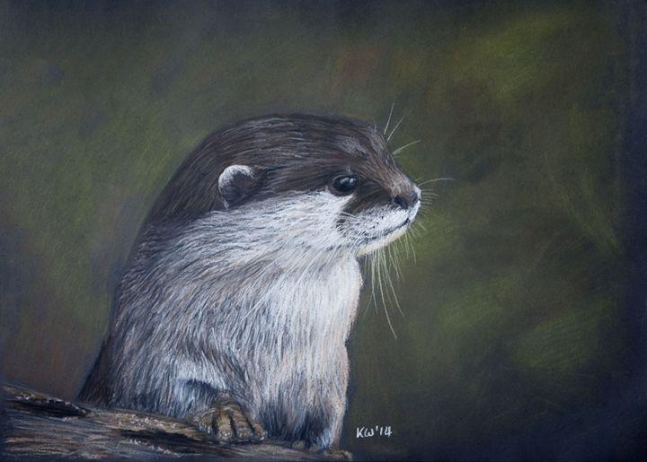 The Otter - Kate Wilkey Art