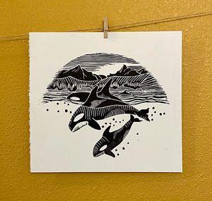 Alaskan Orca's - Thumb Prints