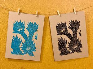 Cactus Flowers - Thumb Prints
