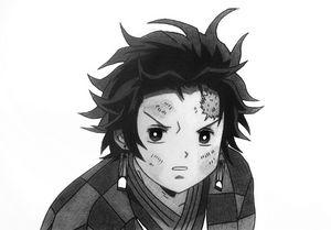 Tanjiro Pencil Drawing