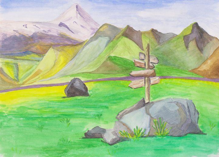 Signpost. Kamchatka - Rita Sketch & Paint