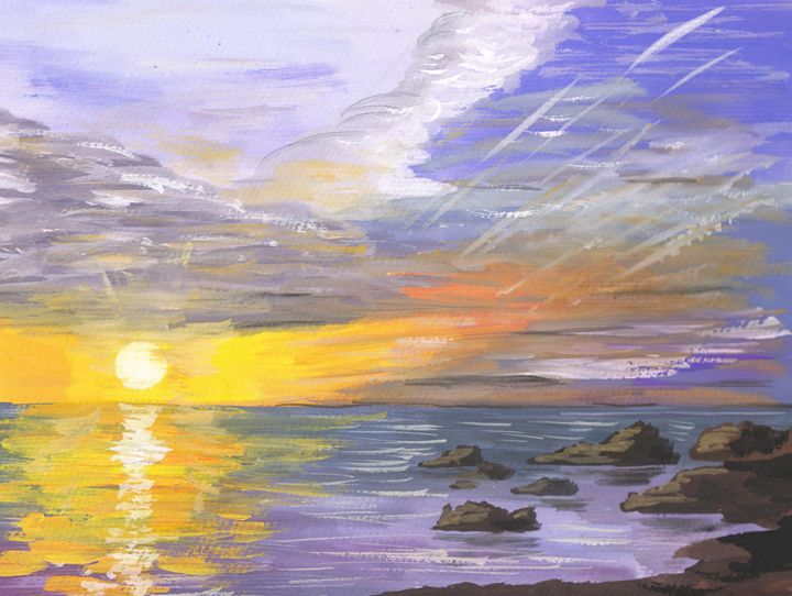Sunrise on Kuril islands - Rita Sketch & Paint
