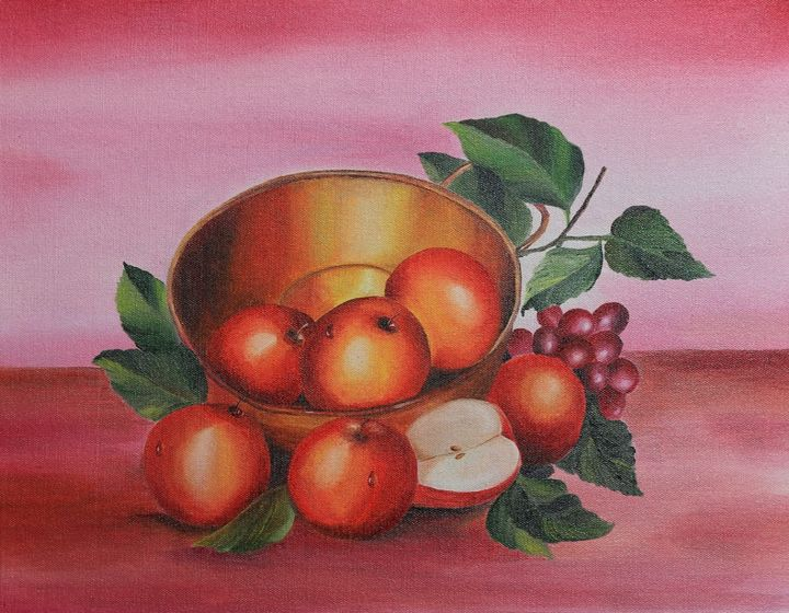 Apple on Golden Vessel - Sajitha's