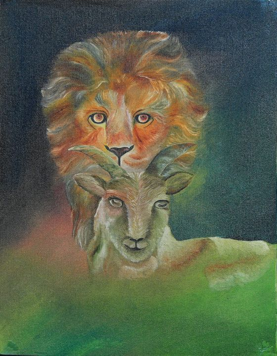 The lion and the lamb🐑 - Sajitha's