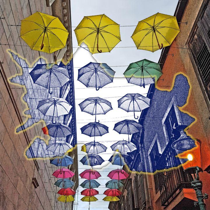 Umbrellas Cut Vision - art4gaia
