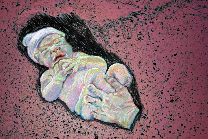 Baby in Pastel - Fine Art by Gabriel K. Jeane