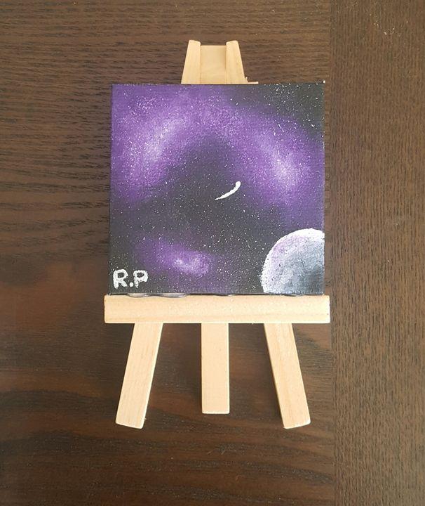 Miniature Purple Galaxy - Art by Renè