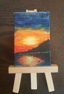 Miniature Orange Sunset