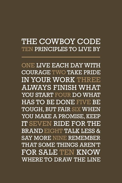 The Cowboy Code • Brown - Megan Romo