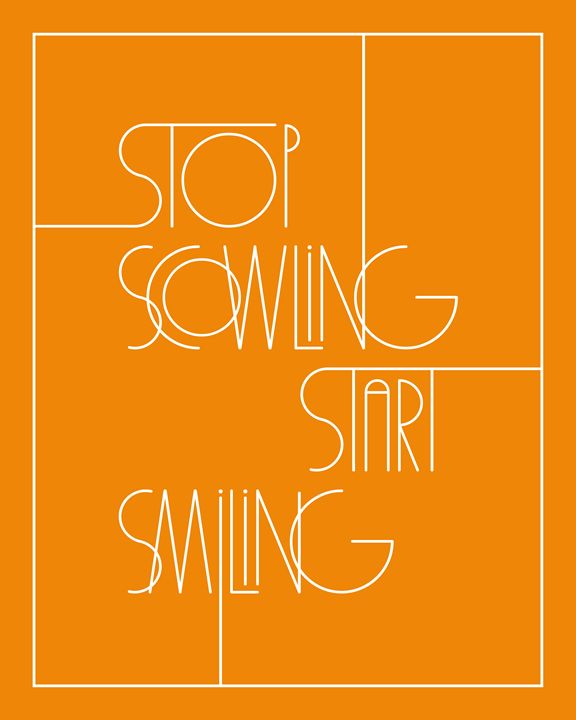 Stop Scowling in Orange - Megan Romo