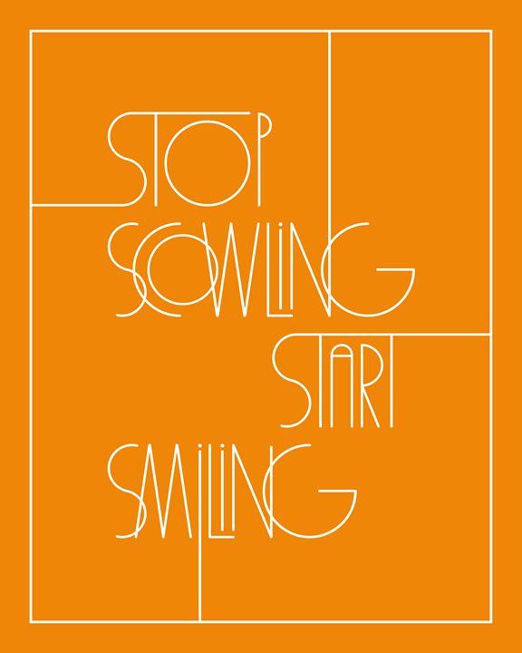 Stop Scowling in Orange - Megan Romo