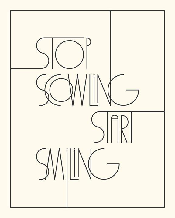 Stop Scowling in Ivory - Megan Romo