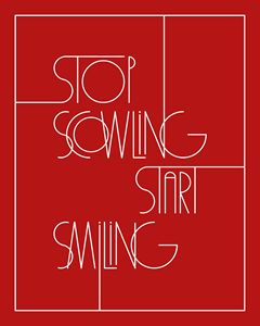 Stop Scowling in Red
