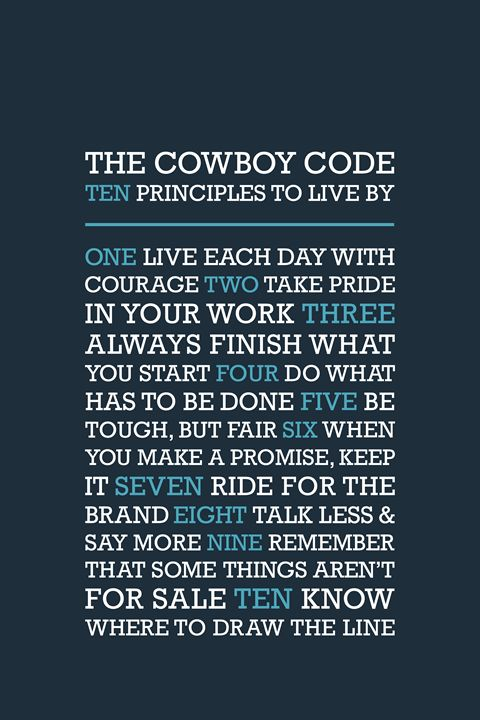 The Cowboy Code • Blue - Megan Romo