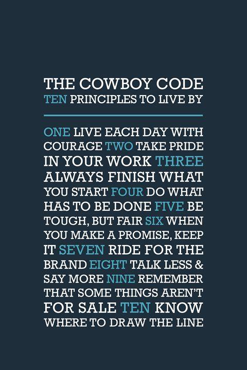 The Cowboy Code •Blue - Megan Romo