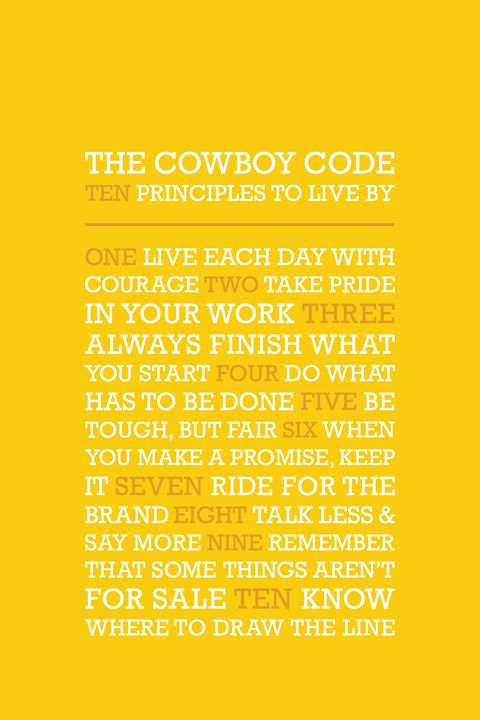 The Cowboy Code • Yellow - Megan Romo