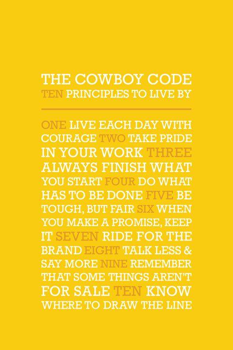 The Cowboy Code •Yellow - Megan Romo