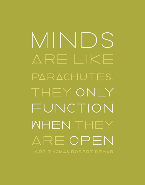 Minds like Parachutes in Green - Megan Romo