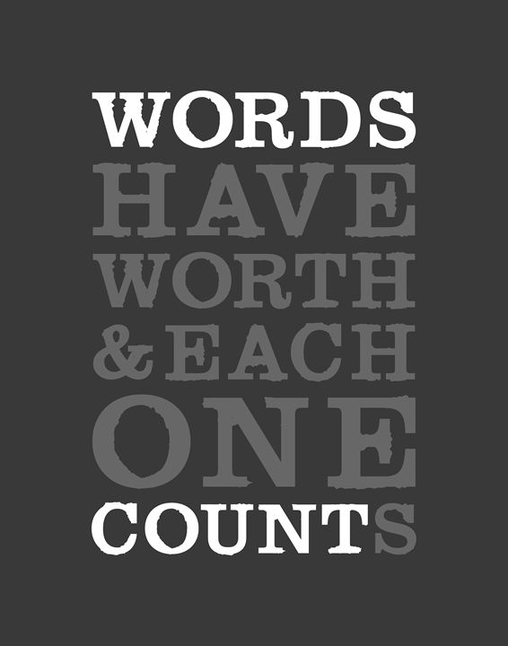 Words Count • Charcoal - Megan Romo