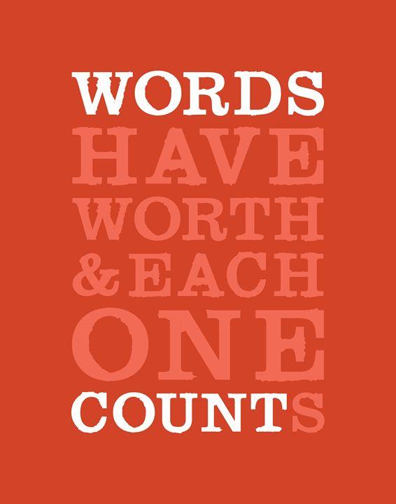Words Count •Coral - Megan Romo