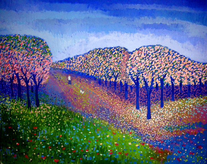 A Walk in the Orchard - Nicola Milliner Art