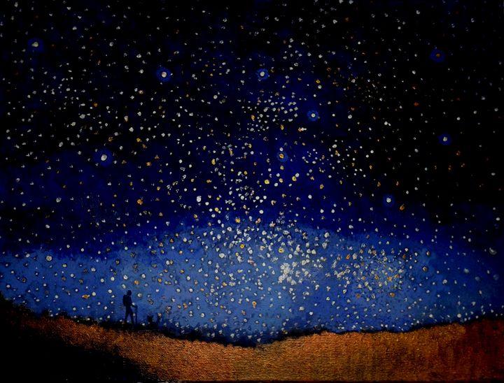 A walk at night - Nicola Milliner Art
