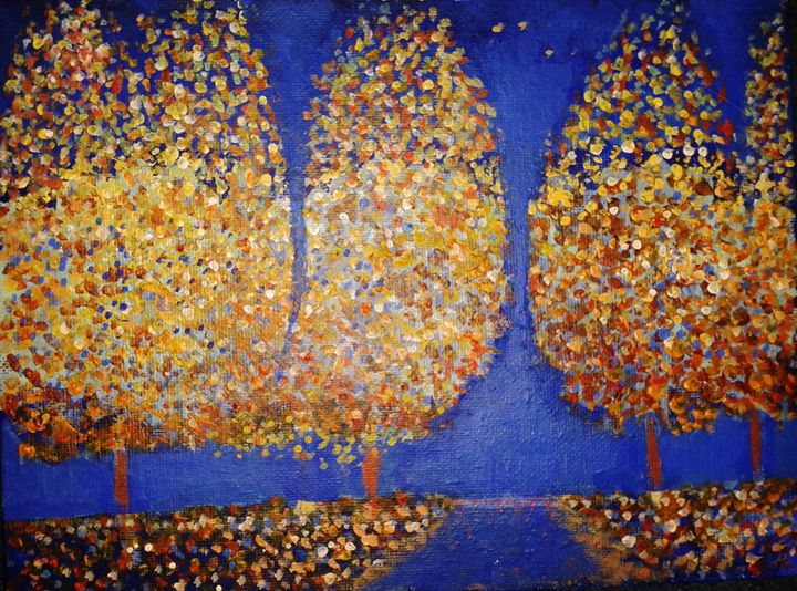 Autumn Trees - Nicola Milliner Art