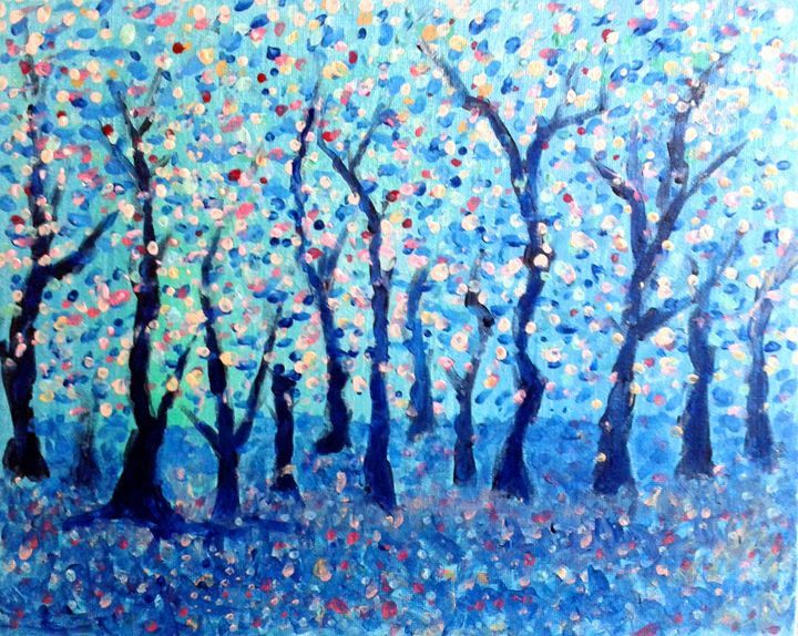 Summer Woodland - Nicola Milliner Art