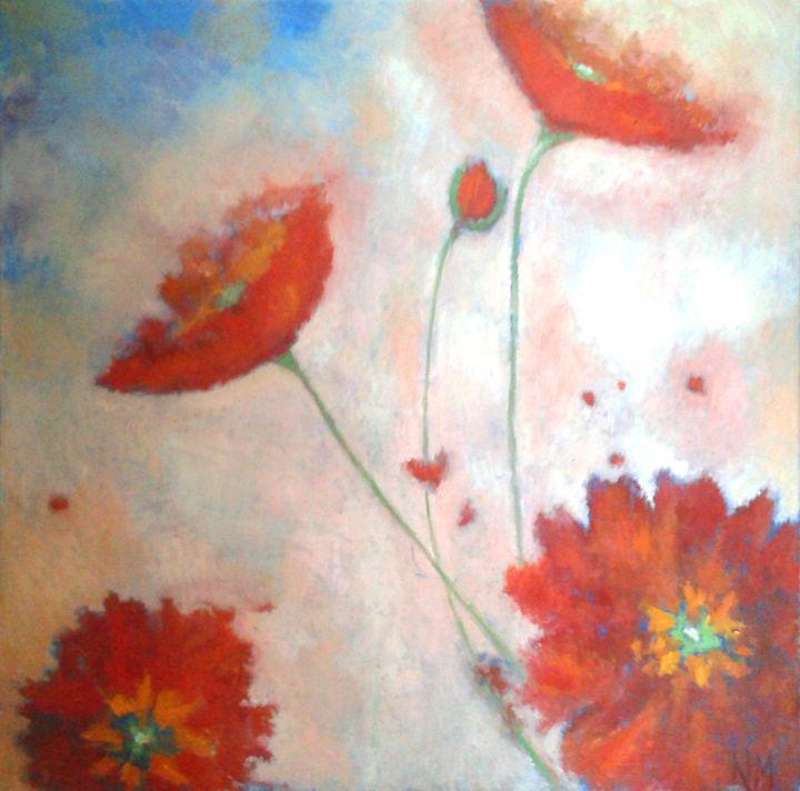Dahlias - Nicola Milliner Art