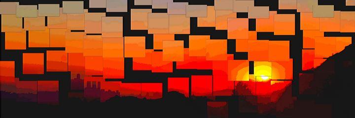 Sunset over Los Angeles - Juan's corridor
