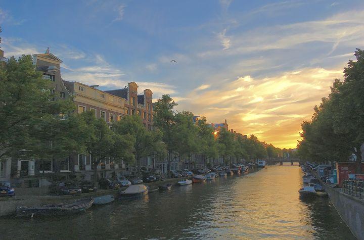 Sunset in Amsterdam - Juan's corridor