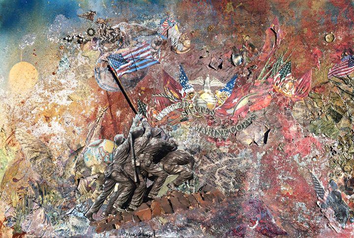 Uncommon Valor - Megan Henrich Original Mixed Media & Abstract Art