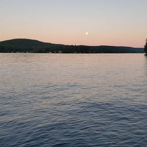 Lake Sunset with Full Moon - Beauty Within