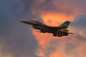 F-16 in the Clouds