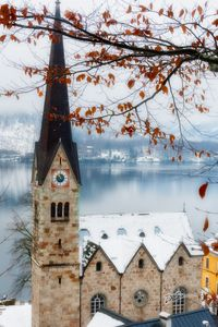 Misty Church at Halstatt