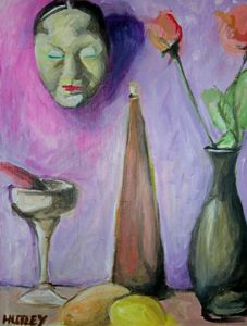 Still life with Mask - Ken Hutley Designs