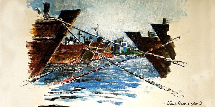 dubai creek - painting