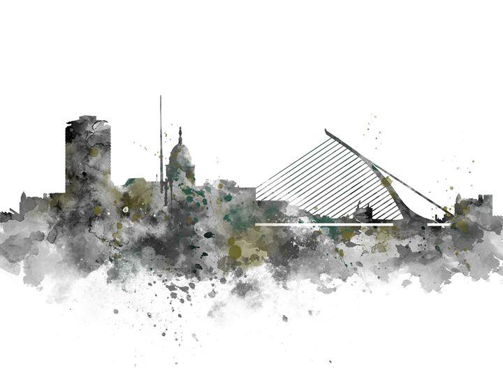 Dublin Skyline - MonnPrint