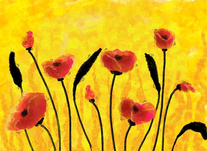 Red Poppies flower -  Khushbu.rangari