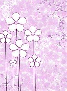 pink white flower pop art
