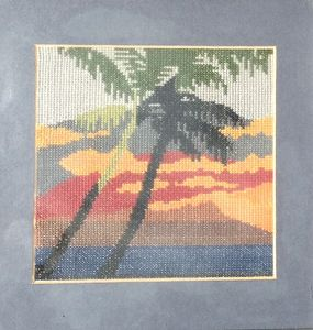 Sunset - Cross stitch