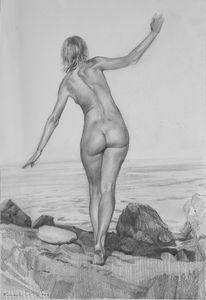 ON A STONY BEACH