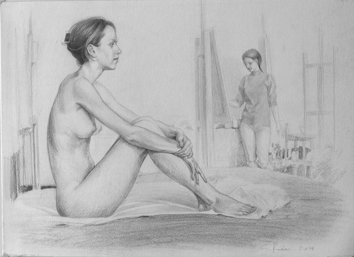 THE MODEL AND ARTIST - Sergey Kostov