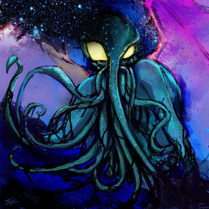The Great Cthulhu - Tony's Illustrations