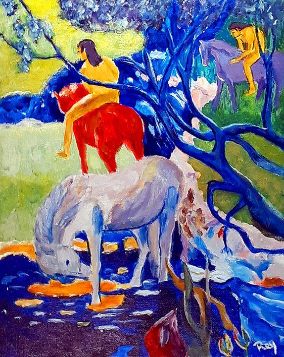 the White Horse of Paul Gauguin - Bujeque Pedro REY